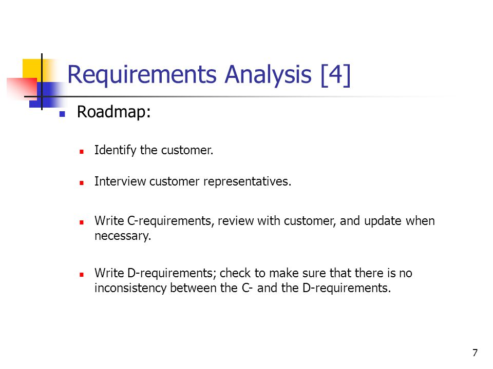 Requirements Analysis [3]